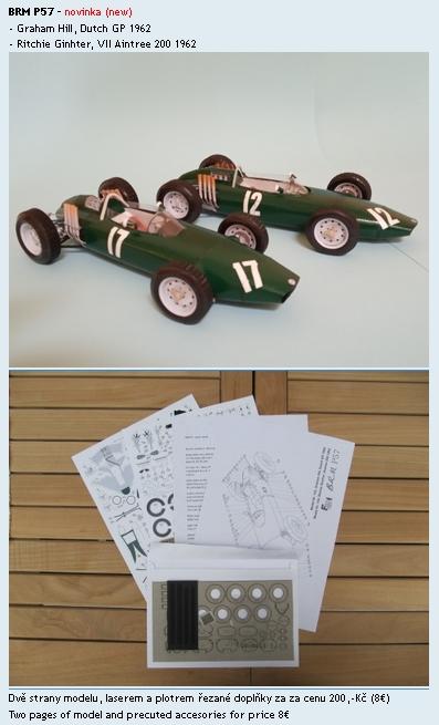 Forum team - papírové modely F1